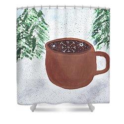 Aspen Cup Shower Curtain