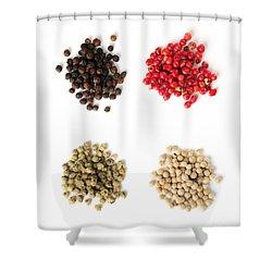 Assorted Peppercorns Shower Curtain by Elena Elisseeva