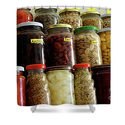 Assorted Spices Shower Curtain by Carlos Caetano