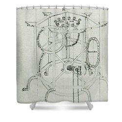 Astrarium Sketch By Giovanni De Dondi Shower Curtain by Science Source