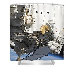 Astronauts Participate Shower Curtain by Stocktrek Images