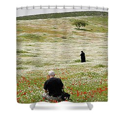 At Lachish's Magical Fields Shower Curtain
