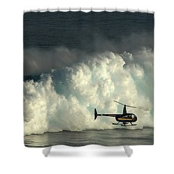 At Peahi Shower Curtain by Vivian Christopher