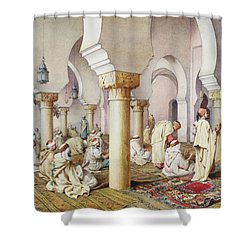 At Prayer In The Mosque Shower Curtain by Filipo Bartolini or Frederico