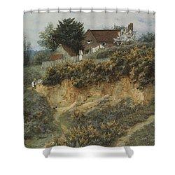 At Sandhills Witley Shower Curtain by Helen Allingham