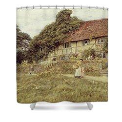 At Stedham Near Midhurst Shower Curtain by Helen Allingham