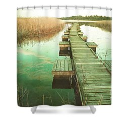 At Sunset Shower Curtain