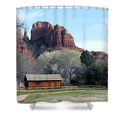Shower Curtain featuring the photograph At The Base by Debbie Hart
