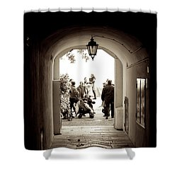 At The End Of The Tunnel Shower Curtain