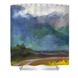 At The Feet Of Giants Shower Curtain