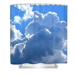 At The Foot Of God Shower Curtain by Maria Urso