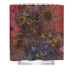 Shower Curtain featuring the digital art At The Moment by Casey Kotas