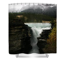 Athabasca Falls Jasper National Park Shower Curtain