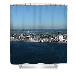 Atlantic City Skyline Panoramic Shower Curtain