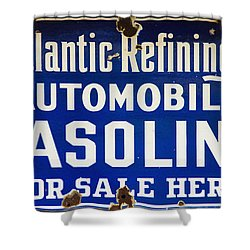 Atlantic Refining Co Sign Shower Curtain by Bill Cannon