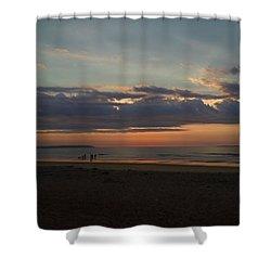 Atlantic Sunrise Shower Curtain by Nancy Griswold