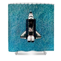 Atlantis Space Shuttle Shower Curtain by Science Source