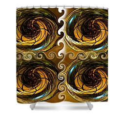 Atlantis The Lost Works Number One Shower Curtain by David Lee Thompson