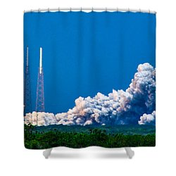 Atlas Launch Shower Curtain