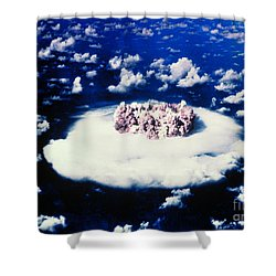 Atomic Bomb Test Cloud Shower Curtain by Science Source