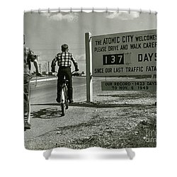 Atomic City Tennessee In The Fifties Shower Curtain by Tom Hollyman and Photo Researchers