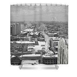 Atop The Guardian  Shower Curtain by Michael Peychich