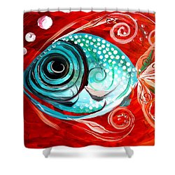 Attract Shower Curtain by J Vincent Scarpace