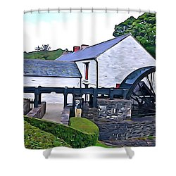 Shower Curtain featuring the photograph Auld Mill  by Charlie and Norma Brock