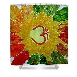 Aumkar Mandala Shower Curtain by Sonali Gangane