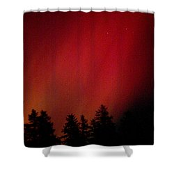 Aurora 01 Shower Curtain by Brent L Ander