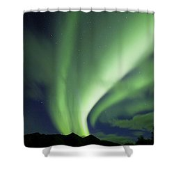 Aurora Borealis, Tombstone Territorial Shower Curtain by John Sylvester