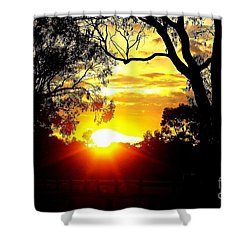 Shower Curtain featuring the photograph Aussie Sunset by Blair Stuart