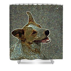 Australian Cattle Dog Mix Shower Curtain by One Rude Dawg Orcutt
