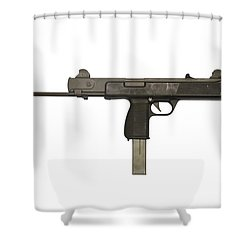 Austrian 9mm Steyr Mpi 81 Submachine Shower Curtain by Andrew Chittock