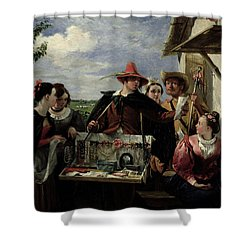 Autolycus Scene From 'a Winter's Tale' Shower Curtain by  Robert Leslie