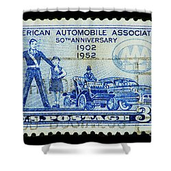Shower Curtain featuring the photograph Automobile Association Of America by Andy Prendy