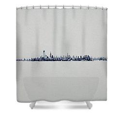 Autum Skyline Shower Curtain