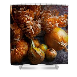 Autumn - Gourd - Still Life With Gourds Shower Curtain by Mike Savad