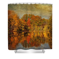 Autumn - Landscape - Tamaques Park - Autumn In Westfield Nj  Shower Curtain by Mike Savad
