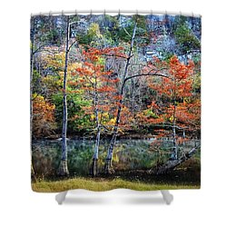 Autumn At Beaver's Bend Shower Curtain by Tamyra Ayles