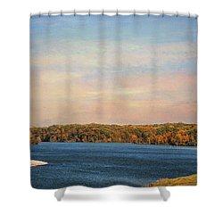 Autumn At Lake Graham Shower Curtain by Jai Johnson