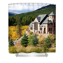 Shower Curtain featuring the photograph Autumn At St. Malo  by Jim Garrison