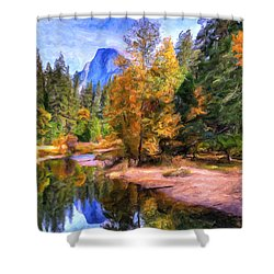Autumn At Yosemite Shower Curtain by Dominic Piperata