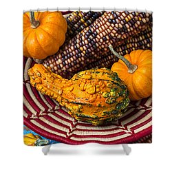 Autumn Basket  Shower Curtain by Garry Gay