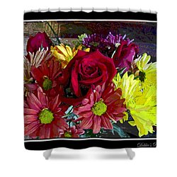 Shower Curtain featuring the digital art Autumn Boquet by Debbie Portwood