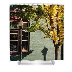 Autumn Detail In Old Town Grants Pass Shower Curtain by Mick Anderson
