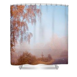 Autumn Fairytale. Misty Roads Of Scotland  Shower Curtain by Jenny Rainbow