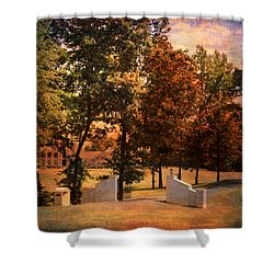 Autumn Gate Shower Curtain by Jai Johnson