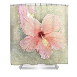 Autumn Hibiscus Shower Curtain