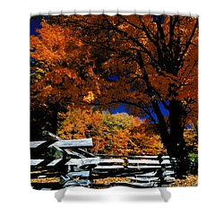 Autumn In Holderness Shower Curtain by Rick Frost